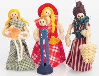 These old-fashioned yarn dolls are great Halloween crafts for a historical Halloween party.