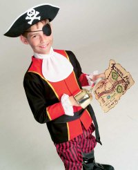 Use the treasure map to tell Captain Kidd's story when making a pirate-thtemed Halloween party.