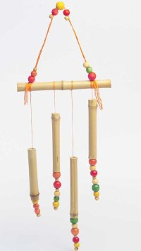 These wind chimes are an easy Halloween craft.