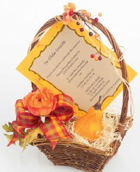 This invitation basket is a beautiful way to let guests know about your Halloween party.