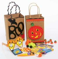Give guests these old-fashioned goodie bags at a historical Halloween party.