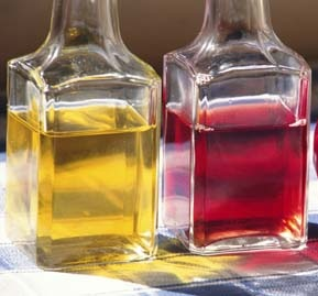 Though commonly used in cooking, vegetable oil and vinegar can also be used as carrier oils in aromatherapy preparations.