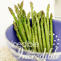 Asparagus with Brown Butter Rosemary Breadcrumbs