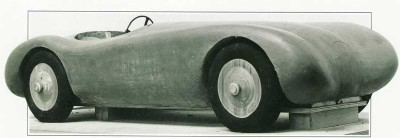 Jaguar C-Type clay model