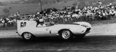 The Jaguar D-type at LeMans in 1955.