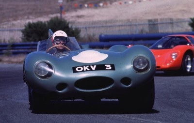 After 1955, a full-width windshield was mandated for the Jaguar D-Type.