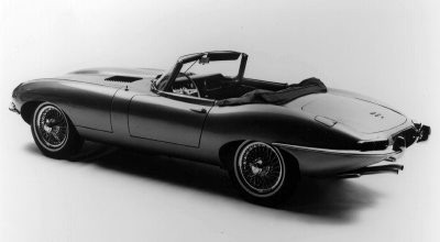 1961 Jaguar XKE convertible, also known as the Jaguar E-Type.