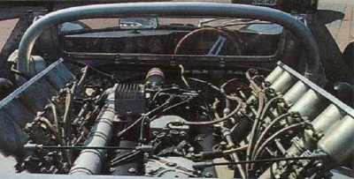 V-12 engine in the Jaguar XJ13 midengine test car
