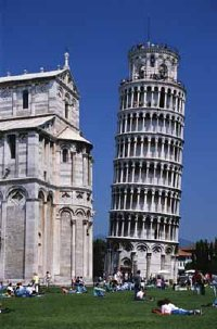 As Pisa's tower began to tilt, Italians dubbed it the Torre Pendente (leaning tower).