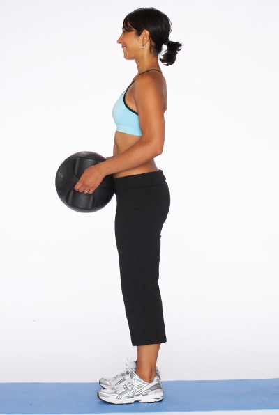 How to Do a Dead Lift with Medicine Ball Step Three