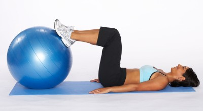 How to Do a Hamstring Bridge with Stability Ball