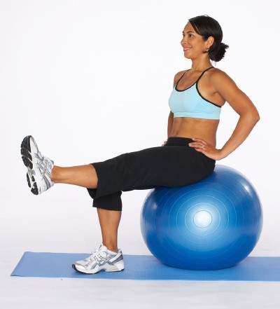 How to Do a Leg Extension on Stability Ball Step Three