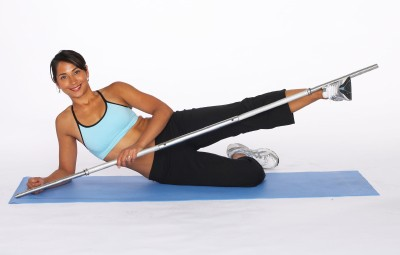 How to Do an Outer Thigh Lift with Bar Step Three
