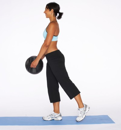 How to Do a Single Leg Dead Lift with Medicine Ball Step One
