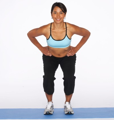 How to Do a Squat with Outer Thigh Lift Step Two