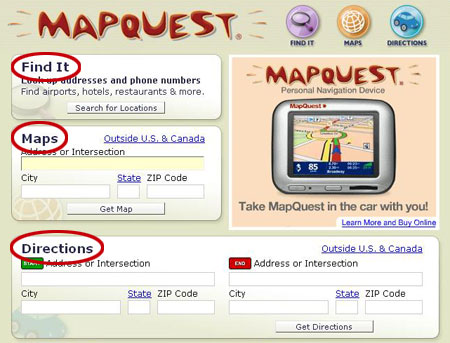 Using MapQuest - How MapQuest Works | HowStuffWorks on driving directions, get directions, maps directions, mapquest map, city maps, mapquest canada, mapquest england, maps with driving directions, mapquest europe, travel directions, mapquest us, driving maps, us map, satellite maps, city street maps, map it, mapquest driving directions, www mapquest, mapquest ca,