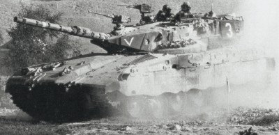 the israeli merkava was designed with a low hull and turret silhouette  see  more tank
