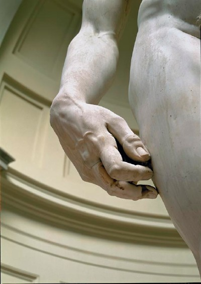 Michelangelo's David, Detail Hand