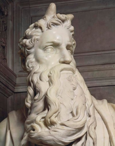 Michelangelo's Moses, Detail Head