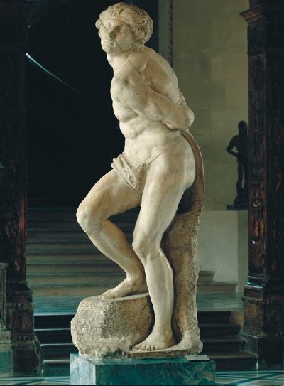 Michelangelo's Rebellious Slave, Front View