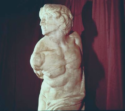 Michelangelo's Rebellious Slave, Side View