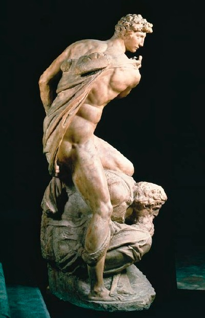 Michelangelo's Victory, Side View