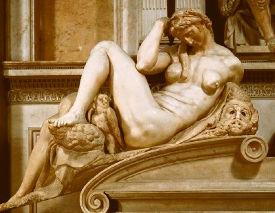 Night, Detail of Michelangelo's Tomb of Giuliano de' Medici