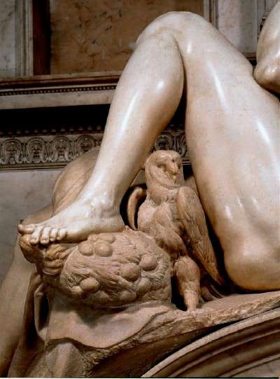 Night Detail from Michelangelo's Tomb of Giuliano de' Medici