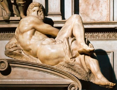 Day, Detail from Michelangelo's Tomb of Giuliano de' Medici