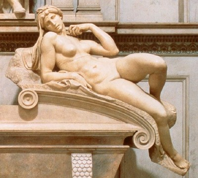 Dawn detail, from Michelangelo's Tomb of Lorenzo de' Medici