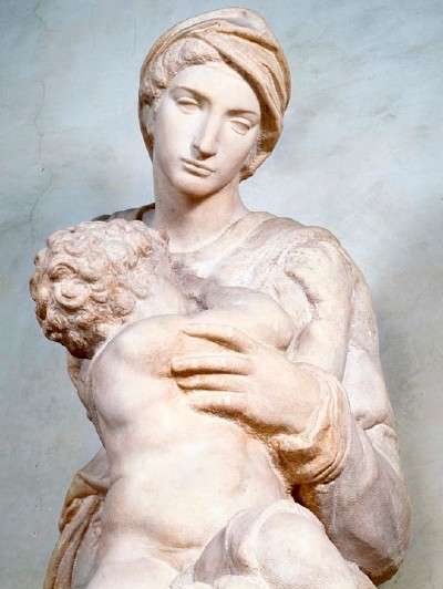 Detail of Michelangelo's Medici Madonna