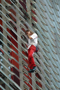 French extreme climber Alain Robert
