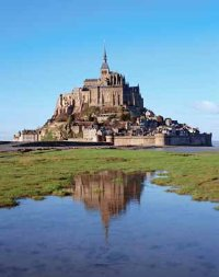 Mont-St.-Michel experiences the highest tide differential on the European continent.