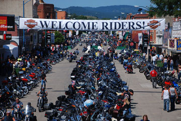 What are the most famous motorcycle rallies in the U S