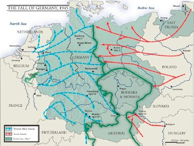 Map Of Germany Ww2.World War Ii Timeline April 3 1945 April 9 1945 Howstuffworks