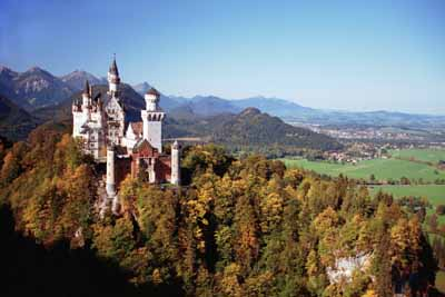 Neuschwanstein Castle was the fantasy of King Ludwig II, inspired by romantic German legends and the Palace of Versailles.