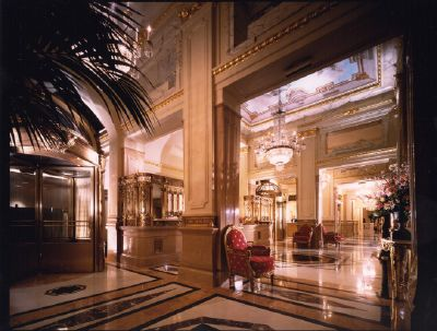 The Mobil Five-Star St. Regis New York is a beautiful Beaux Arts-style hotel.