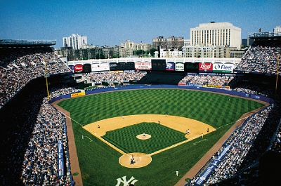 You can watch the New York Yankees play at Yankee Stadium in the Bronx.