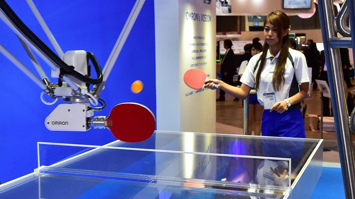A Table Tennis Coaching Robot