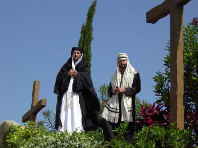 In addition to biblical re-enactments, The Holy Land Experience offers replicas of historic buildings in Jerusalem and musical presentations.