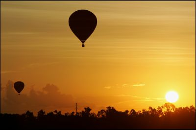 What could be more romantic than a sunset hot air balloon ride?