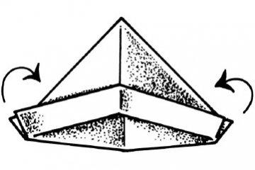 Army cap paper hat origami #tutorial | Origami hat, Paper hat ... | 240x360
