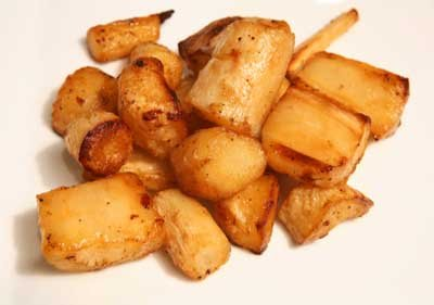 Roasted parsnips are delicious and make a great side dish.