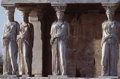 erechtheion statues