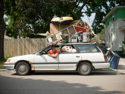 Chances are this guy is exceeding his payload capacity for his car.