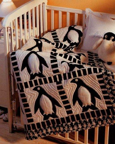 Penguin Frolic Baby Quilt