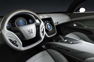 Interior of the Peugeot 908 RC