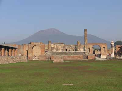 Pompeii was built on an earlier lava flow from Vesuvius. The volcano has erupted hundreds of times since a.d. 79.