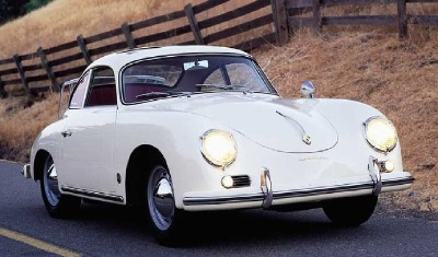 Unlike earlier models, the Porsche 356A featured a one piece-windshield.