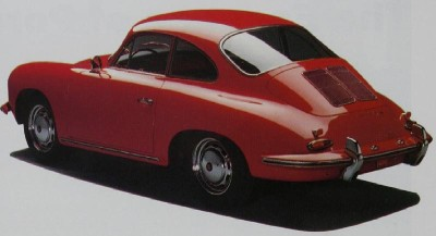 Porsche 356C coupe rear view